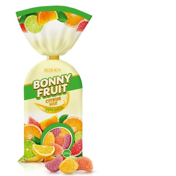 Roshen Želé BONNY FRUIT - Citrus mix 1 kg - 5ks po 200g